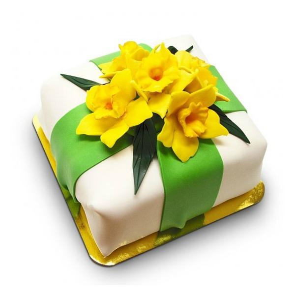 Easter Daffodils Gourmet Cheesecake
