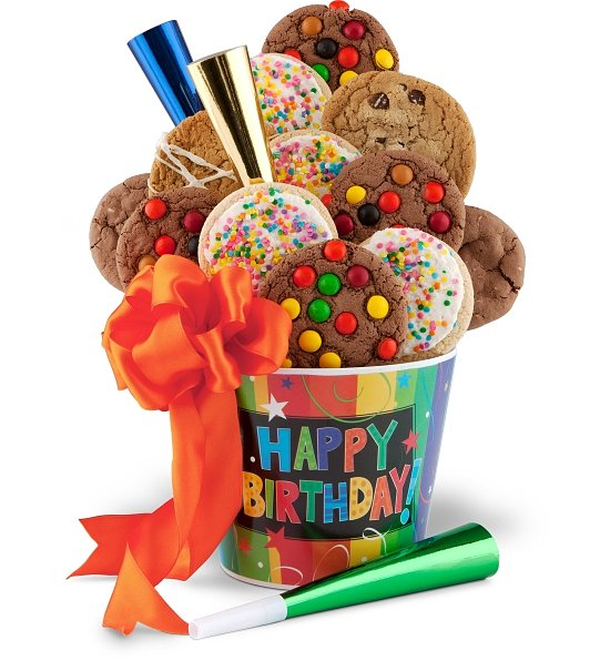 Happy Birthday Cookie Pail FoodGiftsDeliveredcom