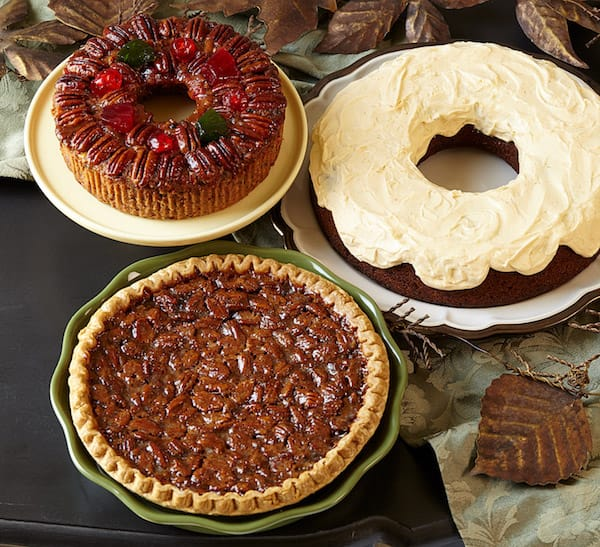 DeLuxe Fruitcake, Pecan Pie and Pumpkin Cake from Collin Street Bakery