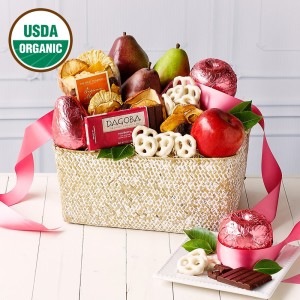 Organic Pink Fruit Basket